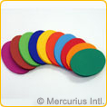 Folding paper heavy assorted - oval