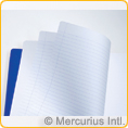 Main lesson book - 21x29.7 cm - 2 pages lined / 1 page blank - no onion skin - PACK 10 PIECES