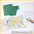 Geography Main Lesson Book - 24x32cm - green - PACK 10 PIECES