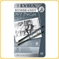 Lyra Art Design Drawing Pencils - 12 Pcs, 6B - 4H