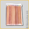 Yorik Coloured Pencils - hexagonal unlacquered 12 pencils assorted