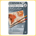 Lyra Rembrandt Polycolor 12 pencils assorted