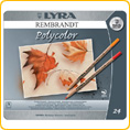 Lyra Rembrandt Polycolor 24 ass. tin case
