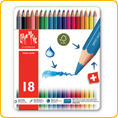 Caran d'Ache Fancolor Watercolour Pencils - 18 colours