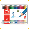 Caran d'Ache Fancolor Watercolour Pencils - 30 colours