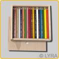 Lyra Color Giants - lacquered - 18 colours in a wooden box