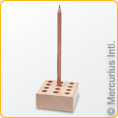 Wooden holder to fit 12 regular pencils