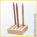 Wooden holder to fit 16 thick colour pencils