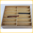 Wooden Pencil Case, empty, with cover - for 144 pencils