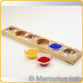 Wooden Holder for 6 Paint Jars without Lid