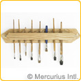 Brush Holder for 15-20 Brushes - Wood