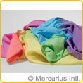 Sarah's Silks - cotton playcloth - rainbow