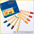 Stockmar Wax Crayons - 8 colours Waldorf assortment