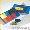 wax colouring blocks