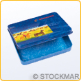 Empty tin case for 8 wax blocks - pc
