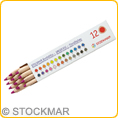 Stockmar Coloured Pencils triangular - single colours - 12 pencils
