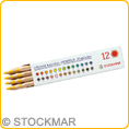 Stockmar Coloured Pencils hexagonal - single colours - 12 pencils