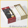 Dipam Beeswax Christmas Tree Candles - 20 pieces - White