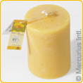 Beeswax candle Dipam STS1 - 4 candles with stuctured surface