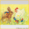 Postcards M. v. Zeyl - Easter Eggs