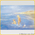 Postcards M. v. Zeyl - Playing In The Sea