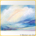 Postcards M. v. Zeyl - Landscape With Rainbow