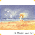 Postcards M.v.Zeyl - Along with the seagulls