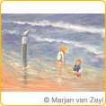 Postcards M.v.Zeyl - Watch a seagull