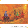 Postcards - Wise Men followed the star - by Marjan van Zeyl