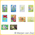 Assortment Flowers - Postcards - by Marjan van Zeyl