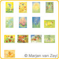 Assortment Nature and Mythical Creatures - Postcards - by Marjan van Zeyl