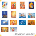 Assortment Seasons and Seasonal Festivals II - Postcards - by Marjan van Zeyl