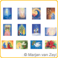 Assortment Seasons and Seasonal Festivals III - Postcards - by Marjan van Zeyl