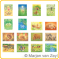 Assortment Animals - Postcards - by Marjan van Zeyl