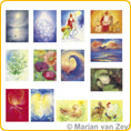 Assortment Seasonal Festivals - Postcards - by Marjan van Zeyl