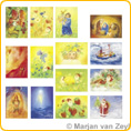 Assortment Seasons - Postcards - by Marjan van Zeyl
