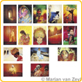 Assortment Cultures of the World - Postcards - by Marjan van Zeyl