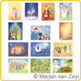 Assortment High Days and Holidays - Postcards - by Marjan van Zeyl